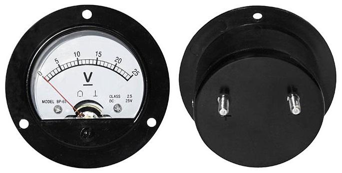 Voltímetro Redondo de Painel 25V DC - ProFTC