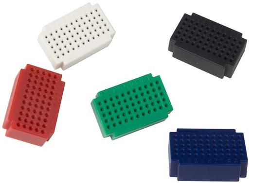 Pack 5x Mini Placas Ensaio (55 Pontos Ligação) - VELLEMAN