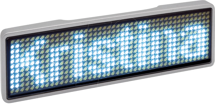 Crachá LED Personalizável (93 x 29 x 6,5 mm) - ProFTC