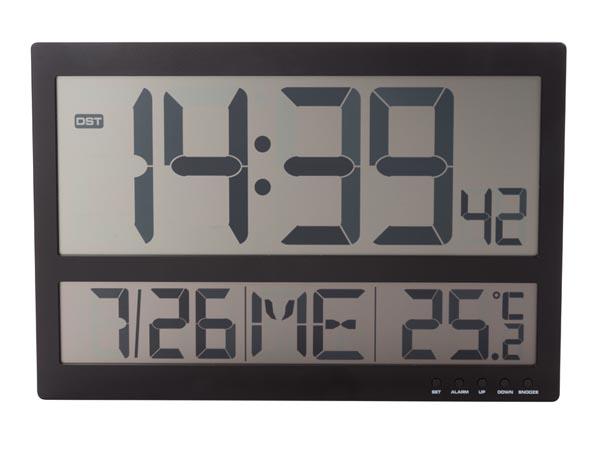 Relógio de Parede Digital (Preto) - VELLEMAN