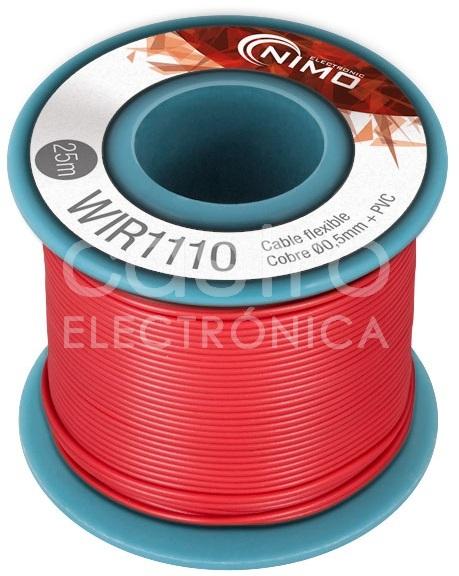 Bobine Fio Flexivel Cobre 0,5mm (Vermelho) p/ Montagens - 25 mts