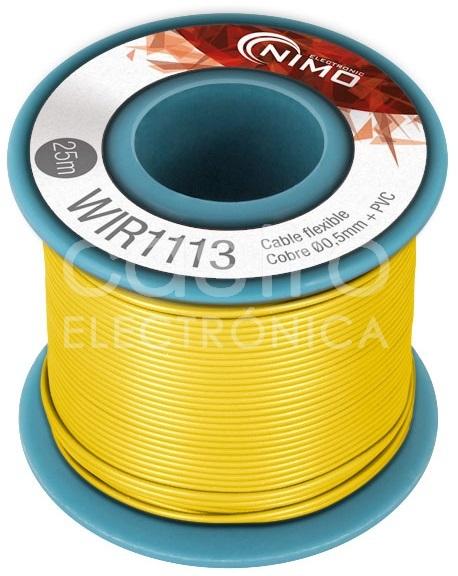 Bobine Fio Flexivel Cobre 0,5mm (Amarelo) p/ Montagens - 25 mts