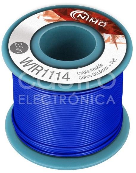 Bobine Fio Flexivel Cobre 0,5mm (Azul) p/ Montagens - 25 mts