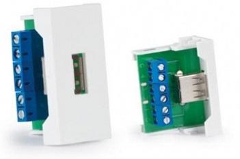 Conector USB A Fêmea p/ Painel Ligação 1/2 - FONESTAR