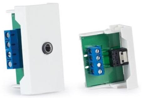 Conector Jack 3,5mm F. Stereo p/ Painel Ligação 1/2 - FONESTAR