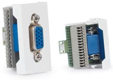 Conector VGA HD15 F. p/ Painel Ligação 1/2 - FONESTAR