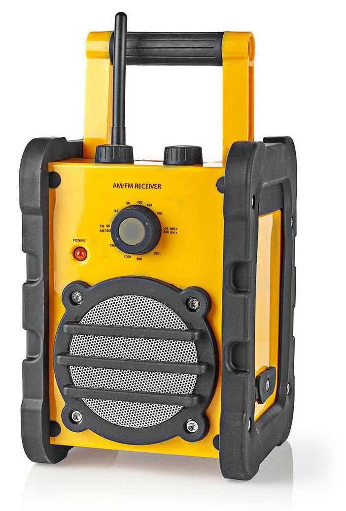 Rádio de Trabalho Portátil AM/FM 3W RMS Altamente Resistente - NEDIS