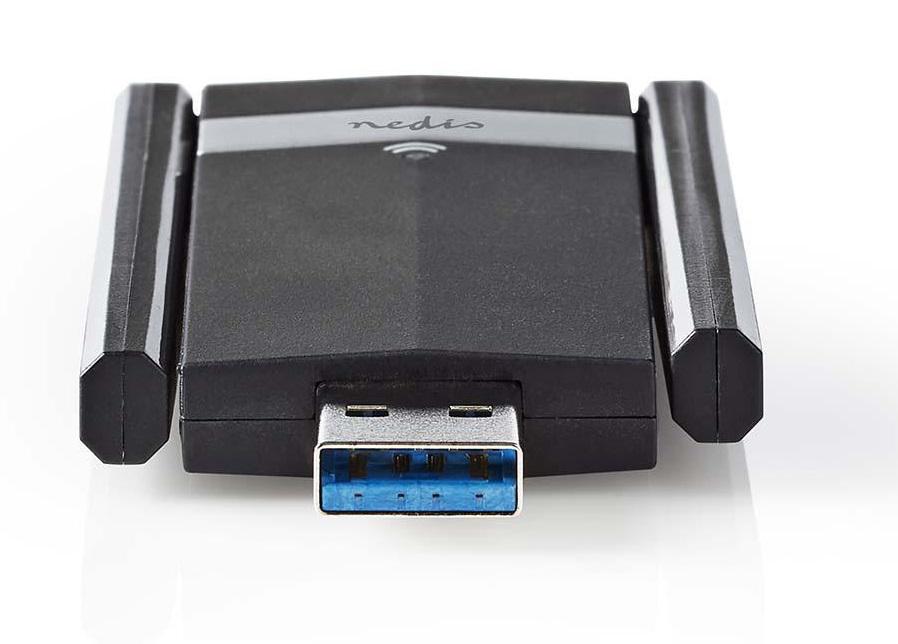 Adaptador USB Wireless Dual Band (Alta Potência) AC1200 - NEDIS