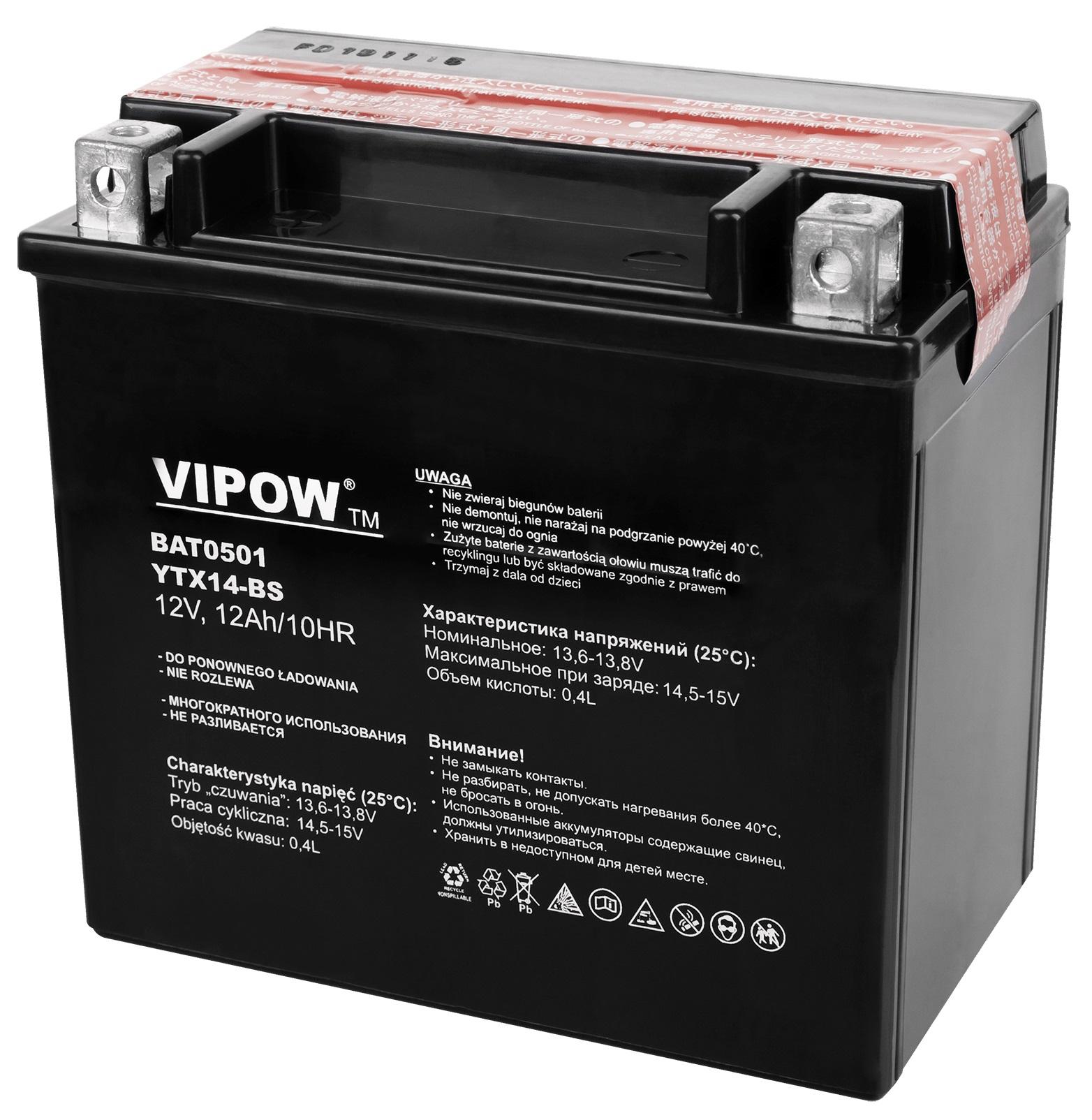 Bateria PB p/ Mota 12V 12Ah