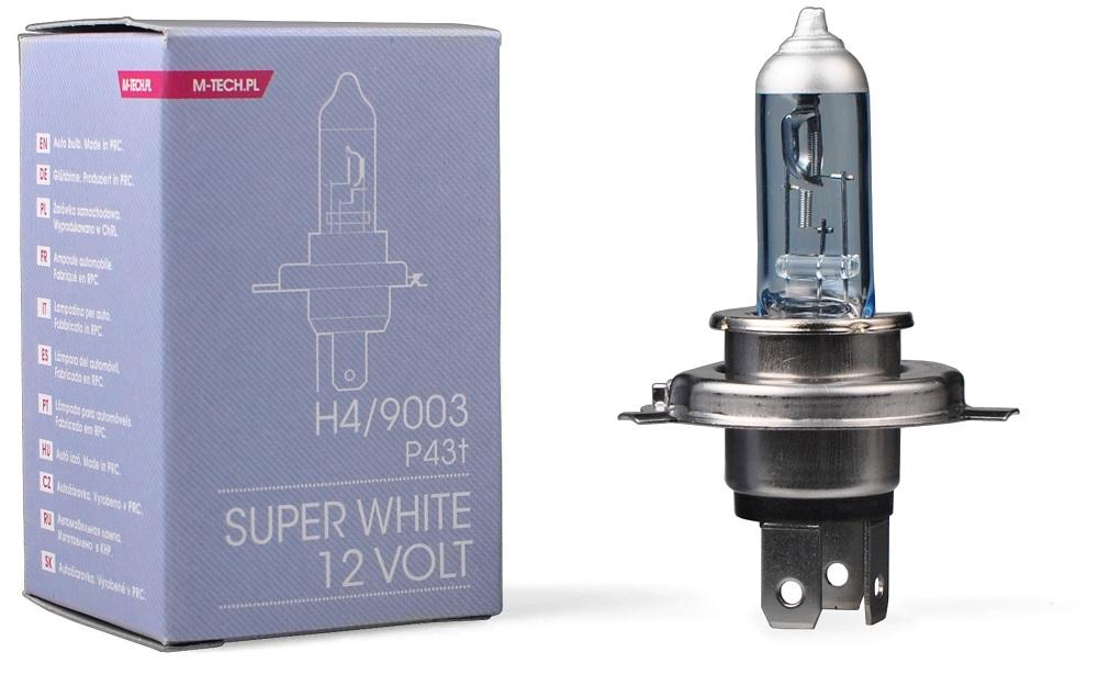 Lampada p/ Automóvel H4 60/55W 12V Super White