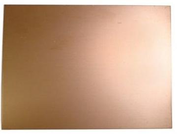 Placa Fibra Vidro Cobre 1 Face 0,80 mm (Aprox. 250 x 185 mm)