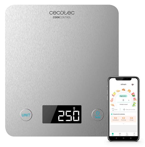 Balança de Cozinha Cook Control 10000 c/ Bluetooth (Prateado) - CECOTEC
