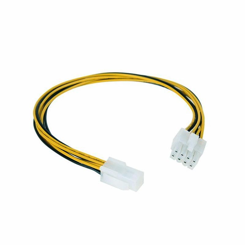 Cabo de Alimentação p/ Processador 4 Pinos - 4 + 4 Pinos Fêmea-Macho (15cm) - Nanocable