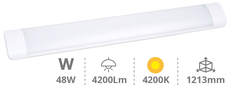Armadura LED 48W 220V Branco 4000K IP20 4200Lm (1,20 mts) - GSC