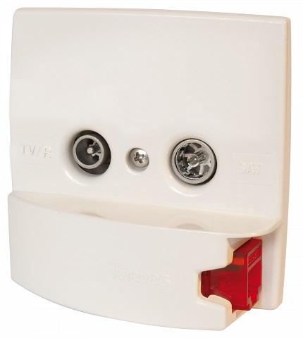 Embelezador Branco Com Tomada RJ45 - TELEVES