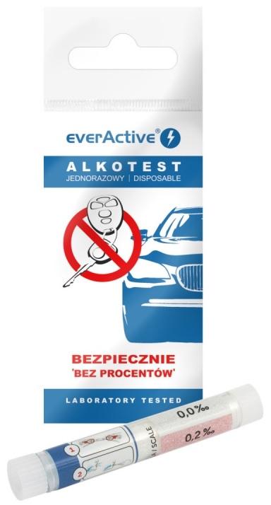 Alcoolímetro Descartável por Sopro (Teste ao Álcool) - everActive