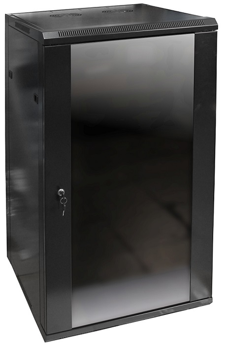Armário Bastidor p/ Pendurar 19 22U (600mm) com Porta Vidro