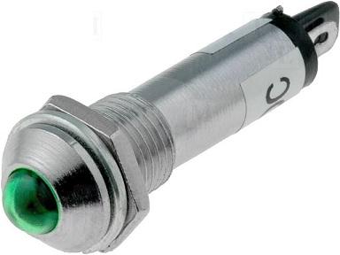 Avisador Metálico em LED 12VDC (Ø8,2mm) - Verde