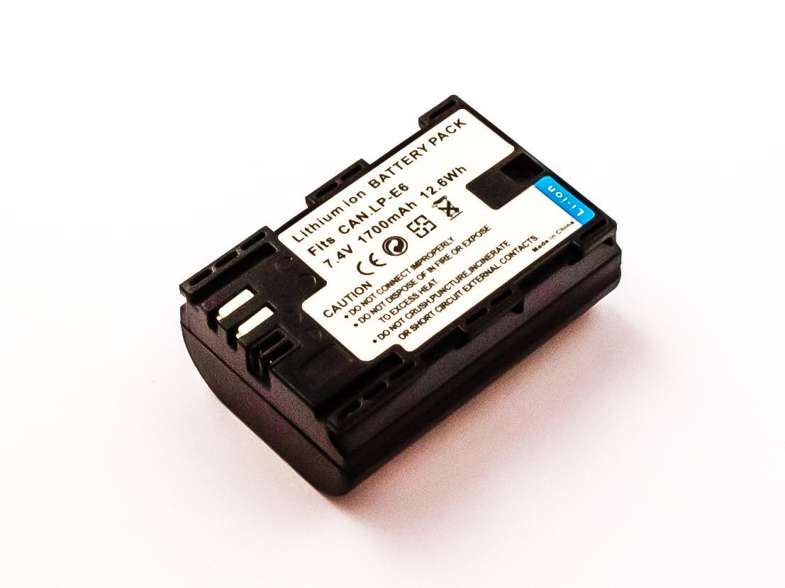 Bateria Compatível LP-E6, LP-E6N CANON (1700mAh)