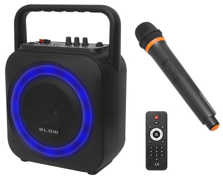 Coluna Amp. Portátil 6,5 100W c/ Leitor MP3/USB/SD/BLUETOOTH + Microfone + Comando (BT800) - BLOW