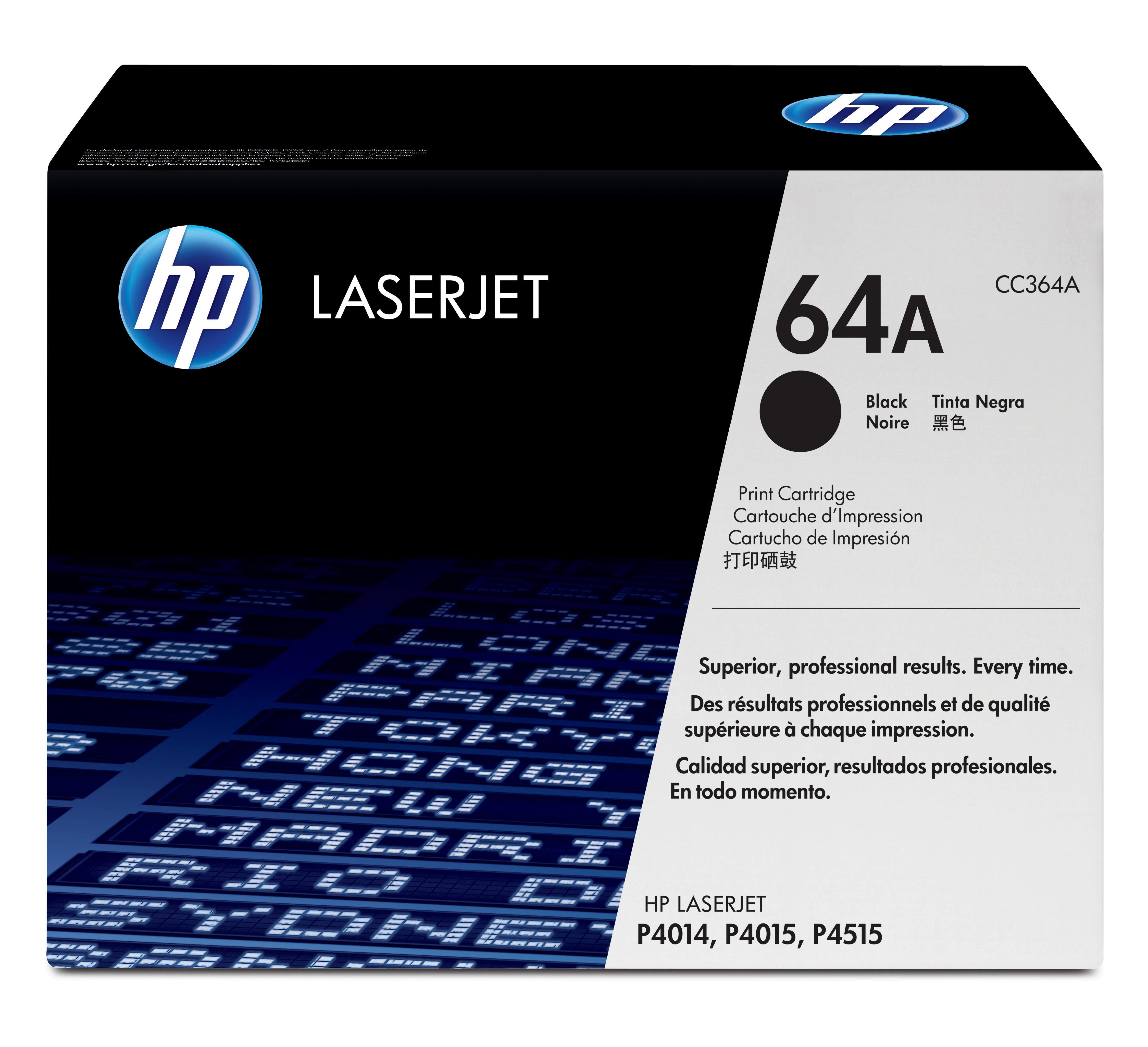 HP CC364A Laser cartridge 10000páginas Preto tóner e tinteiro a laser