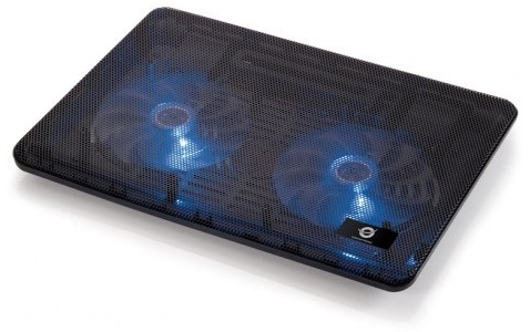 Base Cooler (2 Ventoinhas) p/ Portatil 15,6 - CONCEPTRONIC