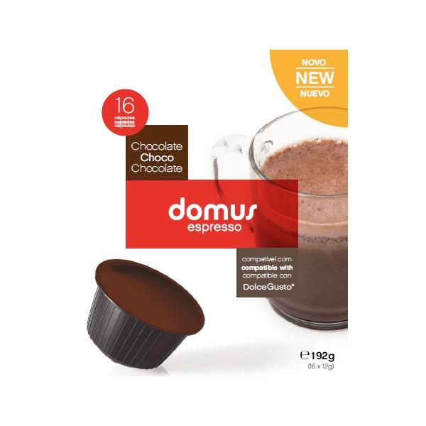 Cápsulas Dolce Gusto Domus Espresso (16 Unidades) Chocolate
