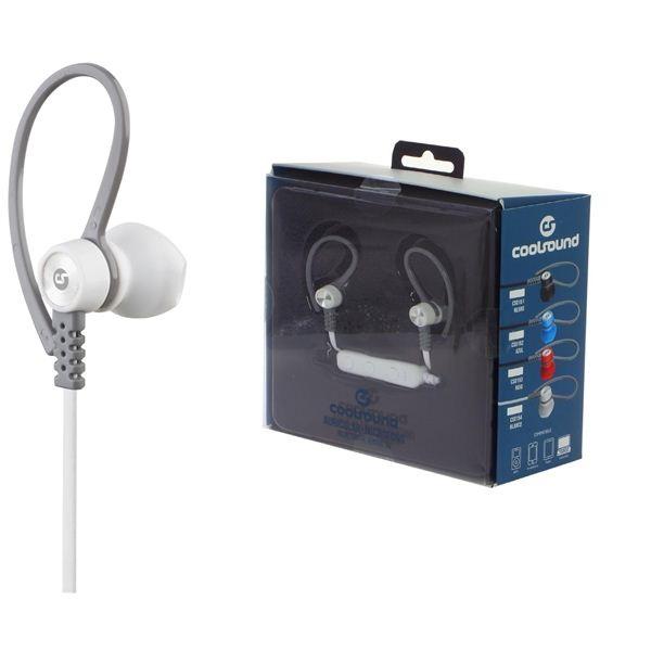 Auriculares Desportivos c/ Microfone V5 Bluetooth (Branco) - COOLSOUND