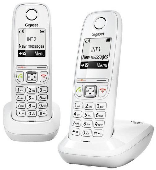 Pack 2x Telefones Digitais s/ Fios (Rede Fixa) Gigaset AS405 DUO (Branco) - SIEMENS
