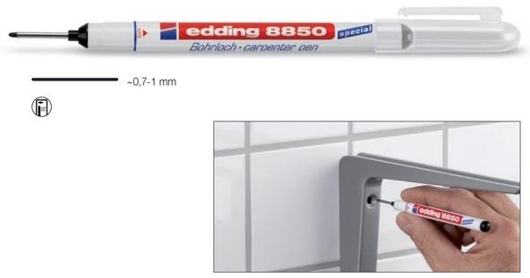 Marcador Ponta Longa p/ Bricolage (0,7~1mm) - Edding 8850