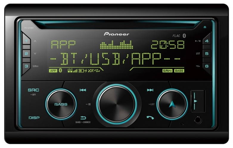 Auto Rádio CD 2DIN RDS AM/FM 4x 50W MOSFET USB/AUX/BLUETOOTH - Pioneer