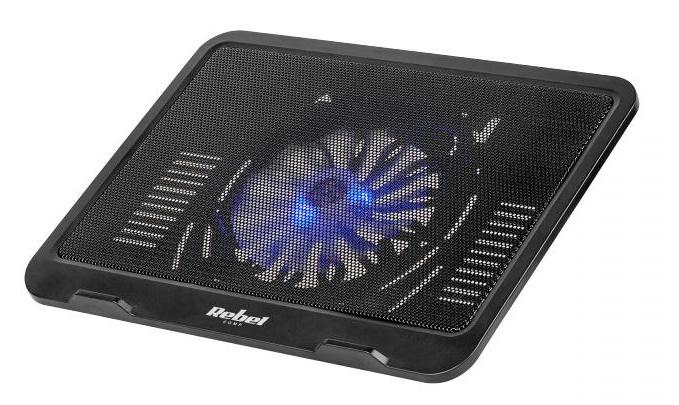Base de Refrigeração LED p/ Portátil 10~14 (Preto) - REBEL