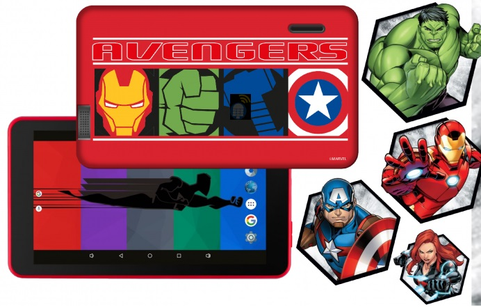 Tablet 7´ Themed Vingadores 8GB (Inclui Capa) - eSTAR