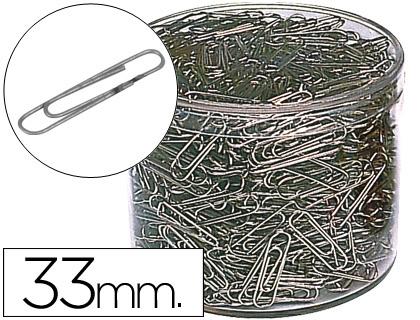 Clips Niquelados N. 2 33 mm Caixa 1000 Unidades