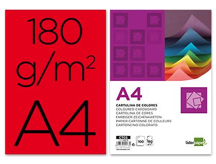 Cartolina 180 Gr A4 100 Folhas Vermelhas