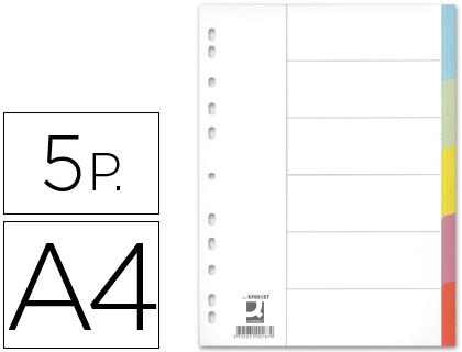 Separadores Q-Connect de Cartolina Din A4, 5 Separadores