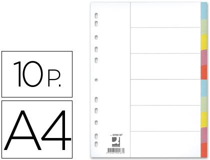 Separadores Q-Connect de Cartolina Din A4, 10 Separadores