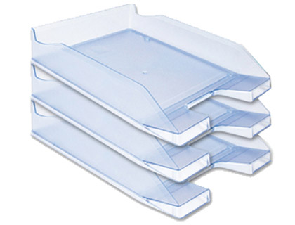 Tabuleiro de Secretaria Q-Connect Plastico Azul Claro Transparente