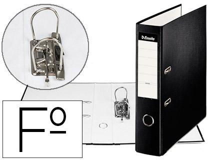 Aquivador de Alavanca Esselte Carton Forrado PVC Folio Lomo de 75mm c/ Rado Preto