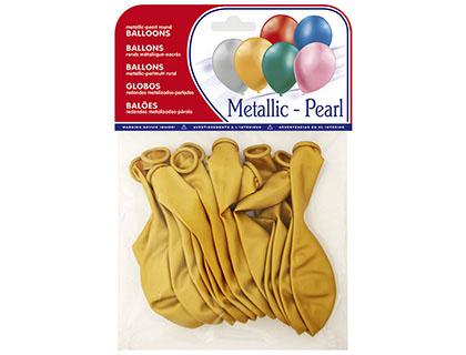 Balões Metalizados Ouro (15 Unidades)