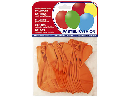 Balões Pastel Laranja (20 Unidades)