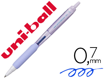 Esferografica Uni-Ball Jetstream Retratil Sxn-101 0,7 mm Lavanda Tinta Azul