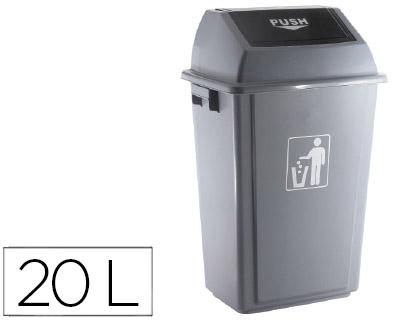 Caixote Do Lixo Q-Connect Industrial c/ Tampa de Empurrar 20 L 340X240X450 mm
