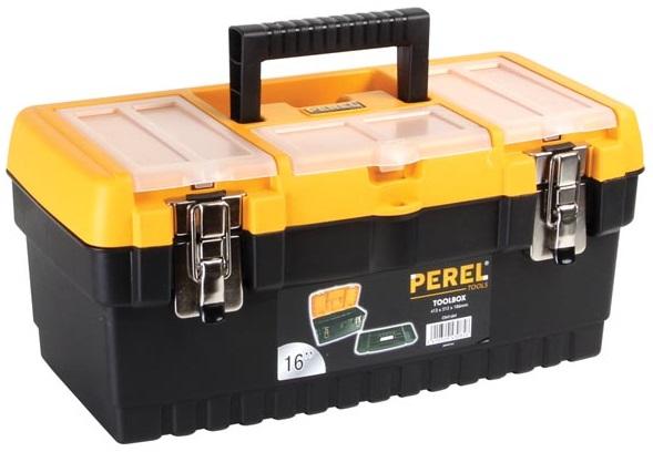 Mala de Plástico 16 (Fechos Metálicos) p/ Ferramentas - PEREL