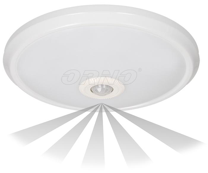 Candeeiro Plafon em LED 16W Branco 4000K 1100Lm c/ Sensor Movimento 360º - ORNO