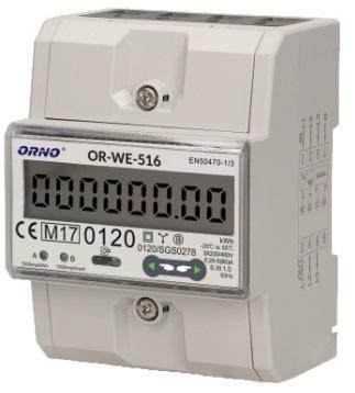 Medidor Digital Custos Energia RS485 e MID p/ Calha DIN (Trifásico) 5(80)A - ORNO