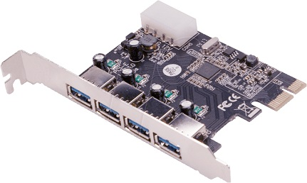 Placa PCI-E c/ 4 USB 3.0 Femea - LOGILINK