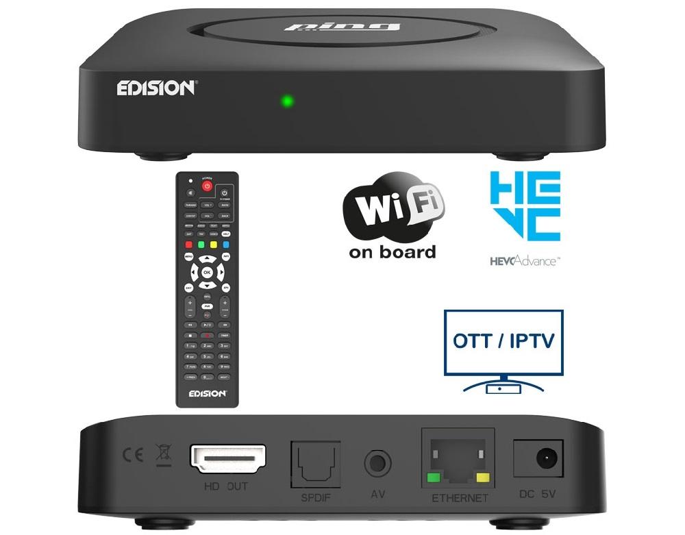 Receptor Full HD Wi-Fi OTT/IPTV - EDISION PING