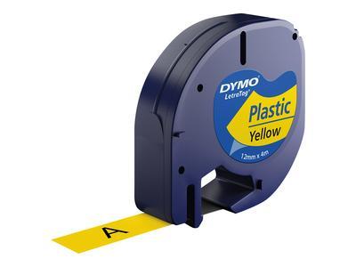 Etiquetadora Preto Sobre Amarelo (4 mts/1,2cm) - DYMO