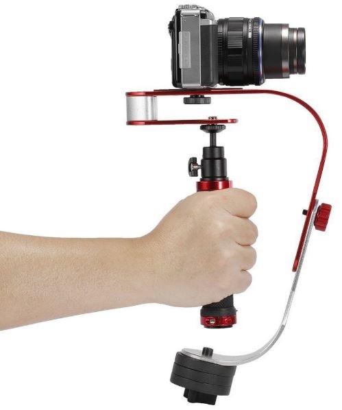 Suporte Estabilizador Metálico de Mão p/ Cameras Foto/Video